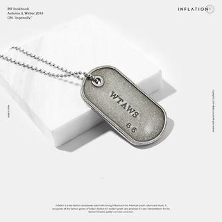 Military Necklace Silver - One Size