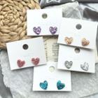 Heart Stud Earring / Ear Clip