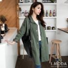 Standing Collar Military Jacket
