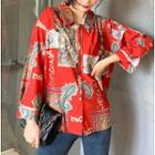Loose-fit Printed Shirt As Figure - One Size