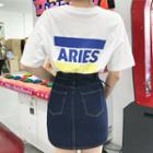 Aries Print Boxy-fit T-shirt