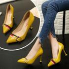 Contrast-trim Stilettos
