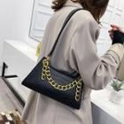 Croc Grain Chained Hand Bag