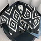 Buttoned Patterned Cardigan
