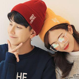 Couple Matching Lettering Knit Beanie