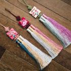 Flower-embroidered Hanbok Norigae Waist Charm