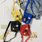 Applique Square Crossbody Bag
