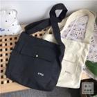Korean Character Canvas Shoulder Bag