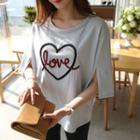 Love Applique T-shirt