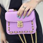 Chained Buckled Shoulder Bag