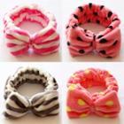 Polka Dot Bow Face Wash Headband