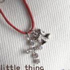 Silver Cross Ribbon Short Necklace