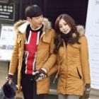 Fuax Fur Hooded Coat