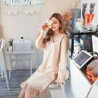 Collared Frill-trim Dress