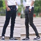 Drawstring Skinny Pants White - 27