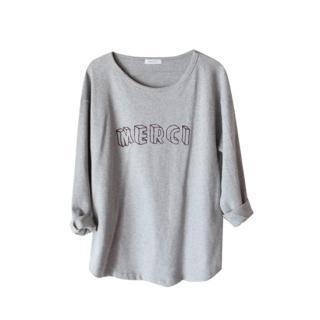 Drop-shoulder Lettering T-shirt