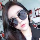 Semi-rimless Cat Eye Sunglasses