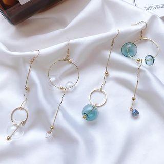 Non Matching Glass Bead Dangle Earring