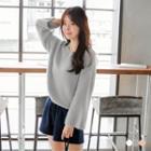 Fuzzy Knit Oversized Sweater