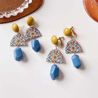 Print Acrylic Dangle Earring