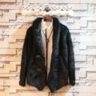 Faux-fur Button Jacket