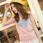 Short-sleeve Dotted T-shirt
