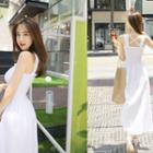 Sleeveless Smocked Maxi Dress