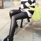 Fleece-lined Matte Leggings