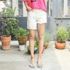Asymmetric Fringe-hem Shorts