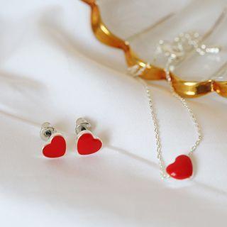 Heart Bracelet / Stud Earring
