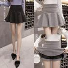 Plain Beaded Flared Skirt