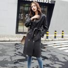 Belted-cuff Trench Coat