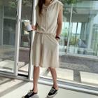 Hoodie & Shorts Linen Blend Set