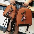 Faux-leather Zip-front Backpack