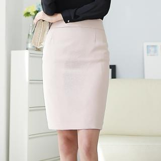 Slit-back Pencil Skirt