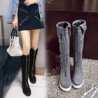 Platform Zipped Long Boots