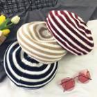 Striped Knit Beret