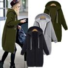 Hooded Loose-fit Coat