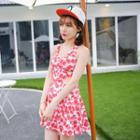 Sleeveless Printed Swim Dress