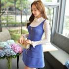 Sleeveless Zip A-line Dress