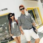 Couple Matching Plain Shirt / Sleeveless Shirt