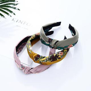 Floral Print Knot Hair Band