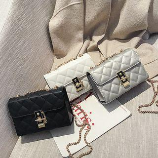 Chained Quilted Crossbody Bag