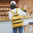 Zip Detail Canvas Backpack