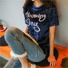 Velvet Lettering T-shirt