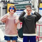 Couple Mock Two-piece Light Pullover