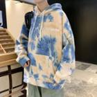 Tie Dye Lettering Hooded Pullover