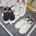 Contrast Trim Canvas Sneakers