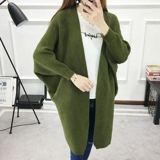 Dolman Sleeve Long Cardigan