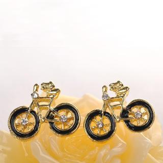 Bicycle Earrings  Black - One Size
